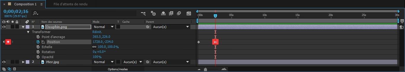 Etape8 conception d'une animation Conception d'une Animation Etape8