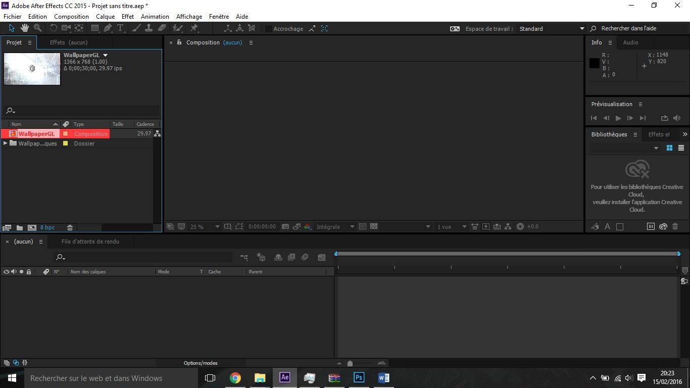 Etape5 importer composition photoshop / illustrator Importer composition Photoshop / Illustrator dans After Effect Etape5 1