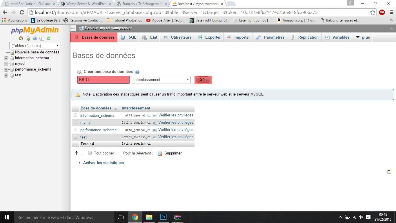 EtapeH wamp server & wordpress Wamp Server & Wordpress EtapeH