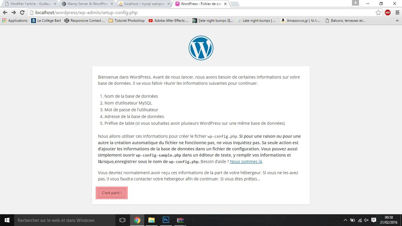 EtapeJ wamp server & wordpress Wamp Server & Wordpress EtapeJ