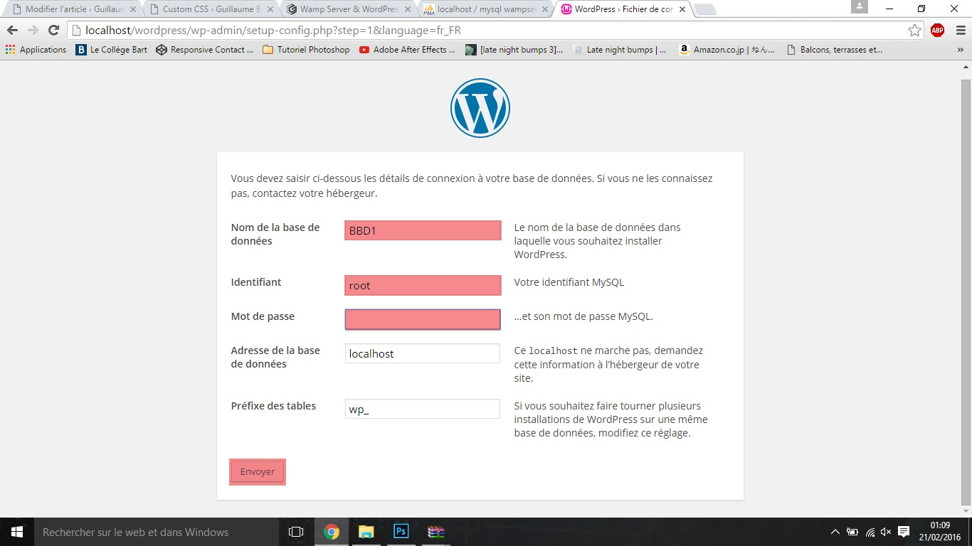 EtapeK wamp server & wordpress Wamp Server & Wordpress EtapeK