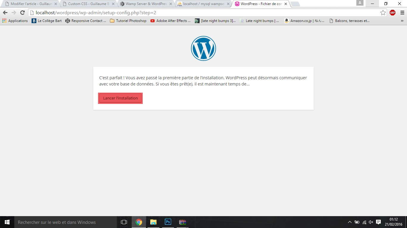 EtapeL wamp server & wordpress Wamp Server & Wordpress EtapeL